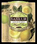 """Чай BASILUR ВОЛШЕБНЫЕ ФРУКТЫ """"Лимон и лайм"""" 100 гр ж\б"""