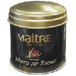 Maitre de The, Черный де Люкс 100гр ж/б